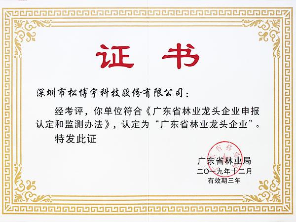 松博宇-林业企业证书