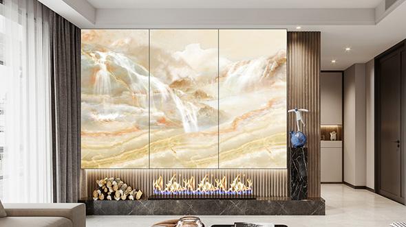 大理石背景墙应用